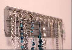 turn a piece of molding into a jewelry holder!