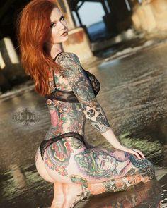 Sexy Girls for You! Life Tattoos, Body Art Tattoos, Side Tattoos Women, Hot Inked Girls, Pin Up, Literary Tattoos, Beautiful Tattoos, Redheads, Sexy