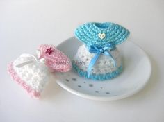 (4) Name: 'Crocheting : Crochet Mini Dress Baby Shower