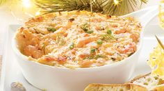 Trempette chaude crevettes Shrimp Dip, Moussaka, Tapenade, Hors D'oeuvres, Appetizer Dips, Dip Recipes, Finger Foods, Tapas, Macaroni And Cheese