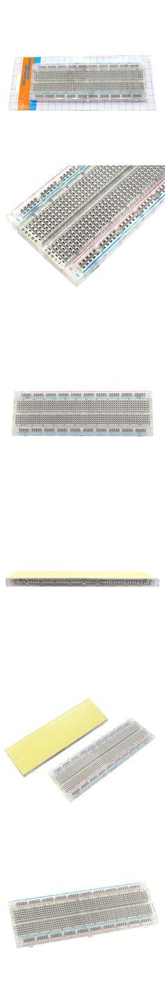 Transparent 830 Point MB-102 Solderless Breadboard DIY Electronics for Arduino
