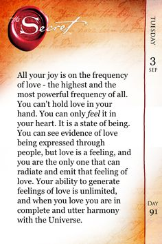 Day 23 (daily teaching): when you love you are in complete harmony with the universe