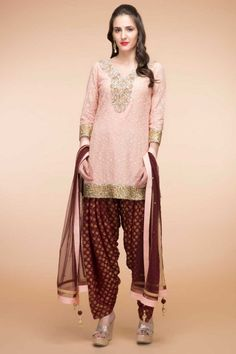 Light Peach Georgette Patiala Suit With Dupatta(d.no1799)   http://www.andaazfashion.com.my/salwar-kameez/patiala-suits