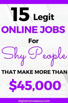 Do you want to make money from home but hate phone jobs? Maybe you are a shy introvert and would rather want to work by yourself? If so, check out this amazing list with some of the best and high-paying jobs for introverts. A perfect remote job for those who really want to make money online. #digitalnomad #workfromhome #jobsearch