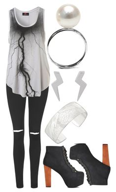 """""""Lightning"""" by xxxmakeawish ❤ liked on Polyvore featuring Topshop, Your Eyes Lie, Minor Obsessions and Jeffrey Campbell"""