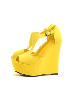 OMG how perfect are these Yellow Wedges!!!