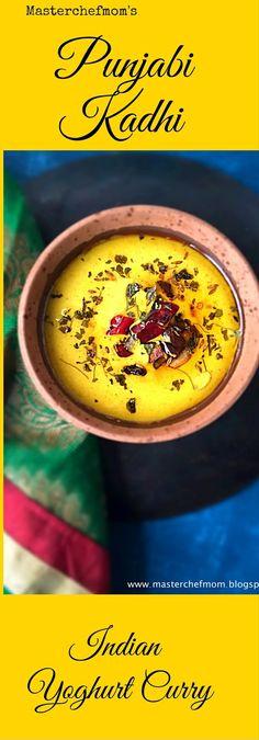Punjabi Kadhi with caramalised onions - Learn how to make Punjabi Kadhi at home - Stepwise Pictures
