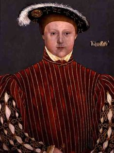 Photo of Henry VIII's son, Edward VI for fans of King Henry VIII. Son of Henry VIII and Jane Seymour.  Painted by Hans Holbein the Younger  c1540s