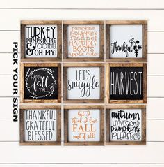 Your place to buy and sell all things handmade - Etsy - Your place to buy and sell all things handmade Fall Mini Sign Collection Farmhouse Style Tiered Tray Sign. Fall Decor Signs, Fall Signs, Holiday Signs, Fall Wood Signs, Holiday Decor, Coffee Bar Signs, Coffee Bars, Advent, Family Wall Art