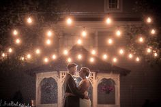 The Courtyard. At Night. In the Rain. Could it be more beautiful?! (Gary Flom Photography) #Wedding #WeddingVenue #NJWeddings #Rain #TwinkleLights #Unique