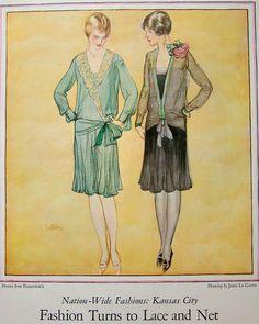 1926 Nation-Wide Fashions Kansas City Dresses from Harzfeld's Petticoat Lane John La Gatta