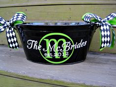 Personalized metal tubassorted colors available by twosisters76