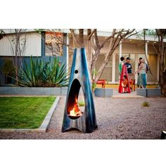 Modfire Urbanfire - Wood Burning, Natural Steel - Outdoor Entertaining - Outdoor - Shop By Room $1350