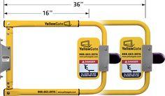 adjustable safety swing gate