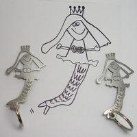 Turn your children's art into a keychain! Drawing For Kids, Art For Kids, Drawing Art, Make Keys, Titanium Jewelry, Kids Artwork, Baby Crafts, Custom Jewelry, Baby Love