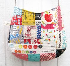 fantastic patchwork bag by elnorac, via Flickr