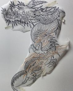 Tattoo dragon asian japanese art Super ideas Best Picture For tattoo quotes with flowers Dragon Tattoo Drawing, Japanese Dragon Tattoos, Japanese Tattoo Art, Japanese Tattoo Designs, Japanese Sleeve Tattoos, Tattoo Drawings, Japanese Art, Koi Tattoo Design, Dragon Tattoo Designs