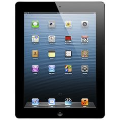 "Apple iPad® with Retina Display (4th Generation) 16GB Wi-Fi with 9.7"" Multitouch Screen - Black"