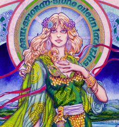 CELTIC IRISH FANTASY ART PRINT Aille the Fair 8x11 By Jim FitzPatrick