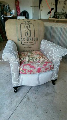 Custom Club Chairs custom order - upholstered club chair with seattle seahawk theme