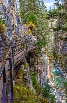 Johnson Canyon Catwalk - Banff National Park - Alberta  Photo by @Elgin Mann