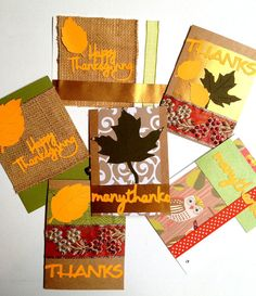 Gives Thanks Handmade Greeting Card Fall by PrincessKCreations