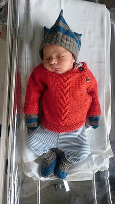 A newborn cardigan.