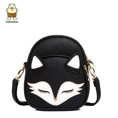 cb6f7f5982 Beibaobao Cartoon Fox Fashion Design Women Messenger Bags Female Tote Women  Bag Bolsa Lovely Cross-
