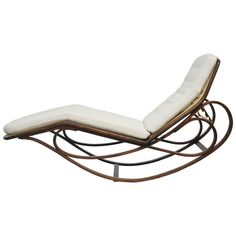 Dunbar Rocking Chaise Lounge by Edward Wormley   From a unique collection of antique and modern chaise longues at https://www.1stdibs.com/furniture/seating/chaise-longues/
