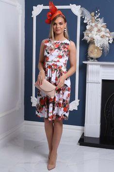 d3721aeddf Lyra White Blossom Print Fit and Flare Dress. Virgo Boutique Fashion