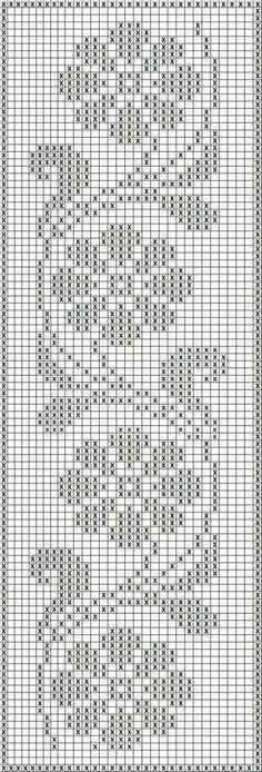 Crochet Edging Free Patterns Archives - Beautiful Crochet Patterns and Knitting Patterns - Filet Crochet Charts, Crochet Borders, Crochet Cross, Knitting Charts, Thread Crochet, Knitting Patterns, Crochet Stitches, Filet Pattern Crochet, Crochet Curtain Pattern