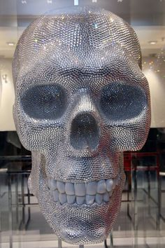 Giant Sparkly Skull in Philipp Plein store