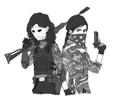 Overwatch and Miss Militia [Nike] by YunYunHakusho