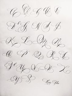 Chicano Lettering Alphabet for Tattoo Tattoo Lettering Styles, Graffiti Lettering Fonts, Hand Lettering Fonts, Creative Lettering, Typography, Calligraphy Drawing, Copperplate Calligraphy, Calligraphy Handwriting, Calligraphy Letters