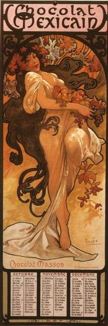 Alphonse Mucha. The Four Seasons: Autumn. Olga's Gallery.