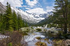 Mills Lake - Rocky Mountain National Park, Colorado - Mountain photography prints by Aaron Spong