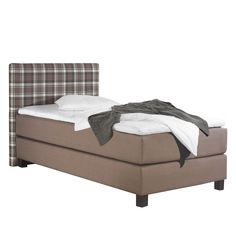 Boxspringbett Jelling - Strukturstoff - 100 x 200cm - H2 bis 80 kg - Bonellfederkernmatratze - Taupe, Monaco Jetzt bestellen unter: https://moebel.ladendirekt.de/schlafzimmer/betten/boxspringbetten/?uid=ea971b7d-47bf-536c-beb3-adeab5bcc6fd&utm_source=pinterest&utm_medium=pin&utm_campaign=boards #möbel #betten #boxspringbetten #monaco #schlafzimmer