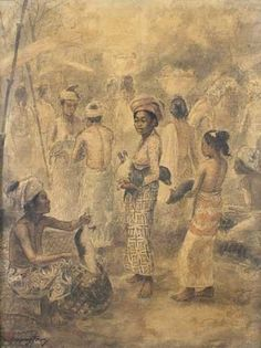 View artworks for sale by Fong, Huang Huang Fong Indonesian). Filter by auction house, media and more. Bali Painting, Indonesian Art, Dutch East Indies, Dutch Colonial, Drawing Projects, Balinese, Southeast Asia, Auction, Illustrations