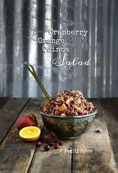 Easy Thanksgiving Meals: Cranberry Orange Quinoa Salad by FamilySpice.com