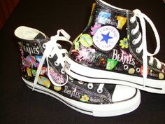 Custom Tennis Shoes - High Tops /The Beatles Design
