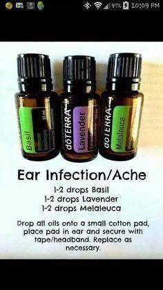 For an earache or ear infection:
