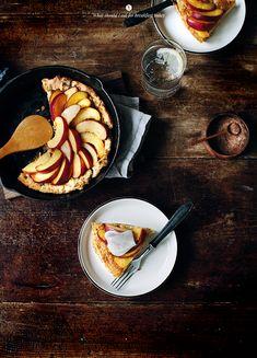 baked pancake w/ nectarines