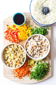 Keto Diet Plan − Breakfast, Lunch, Dinner, Snacks & Fat Bombs Looking for a low-carb and high-protein dinner recipe full of vegetables? Here is an insanely good Asian-Peruvian Cauliflower Fried Rice recipe. Bhg Recipes, Keto Crockpot Recipes, Real Food Recipes, Diet Recipes, Cooking Recipes, Healthy Recipes, Delicious Recipes, Recipies, Cauliflower Fried Rice