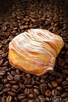 Photo about Dessert with coffee beans background. Image of coffee, dessert, cookie - 23409299 Coffee Images, Coffee Dessert, Coffee Beans, Inspirational, Desserts, Tailgate Desserts, Deserts, Coffee Pictures, Postres