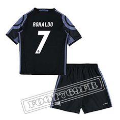 Personnalise Maillot De Ronaldo 7 Real Madrid Enfant Noir/Violet 2016 17 Third : La Liga