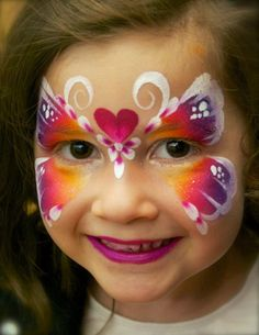 Pixie's Face Painting & Portraits - Rainbow butterfly!