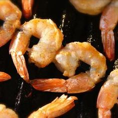So fast and easy to prepare, these shrimp are bound to be the hit of the barbeque. and, weather not permitting, they work great under the broiler, too. I Love Food, Good Food, Yummy Food, Yummy Yummy, Delish, Spicy Grilled Shrimp, Fried Shrimp, Garlic Shrimp, Great Recipes