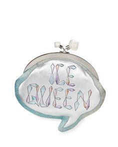 SOPHIA WEBSTER  Ice Queen Speech Bubble Clutch Bag, Silver