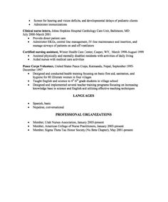 Sample Resume New Graduate Nurse Practitioner Background Checks
