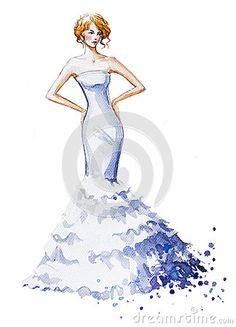 Watercolor Fashion Illustration Stock Photos, Images, & Pictures – (9,573 Images)